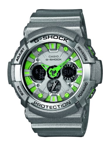 Casio - GA-200SH-8AER - G-Shock - Montre Homme - Quartz Analogique - Digital - Cadran LCD - Bracelet Résine Gris