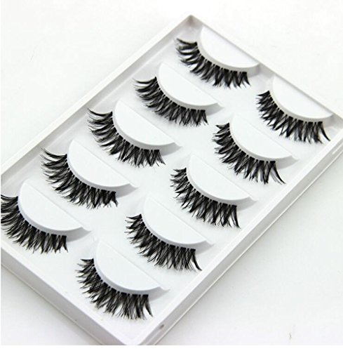 5 Paar Charming Demarkt Fake Falsche Wimpern Handgemachte Eye Peitsche Make-up Schwarz