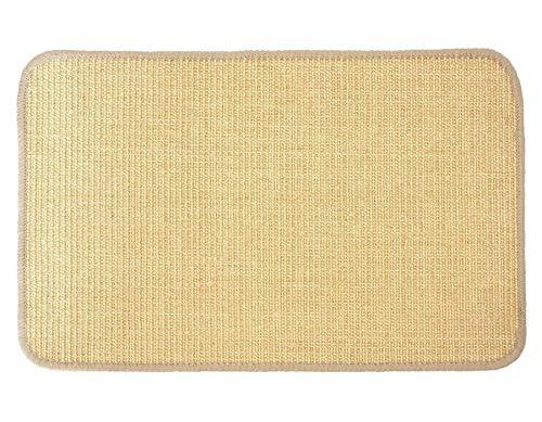 Primaflor - Ideen in Textil Katzen-Kratzmatte Katzenteppich - Natur 0,40m x 0,60m, Sisal, Rutschhemmend - Sisal-Matte, Geeignet für Fußbodenheizung, Sisalteppich für Wand & Boden