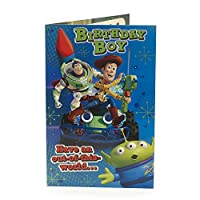 Kids Birthday Card for Him - Toy Story Birthday Card, Birthday Boy, Woody, Buzz Lightyear - Ideal Gift Card for Kids - Disney