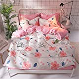 YUNSW Maison Textile Housse De Couette Imprimé Drap De Lit Taie d'oreiller Housse De Lit Literie Set C 180X220cm / 71X87In