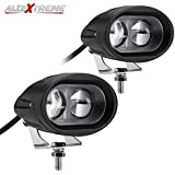 AllExtreme EX2OFW2 2 LED Oval Projector Fog Light Auxiliary Spot LED Light Off-Road Driving Lamp for Motorcycle Car SUV and Bikes (20W, White Light, 2 PCS)