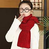 Xizi Women Chunky Yarn Bufanda tejida de lana de algodón Invierno Warm Hecho a mano Collar Wraps