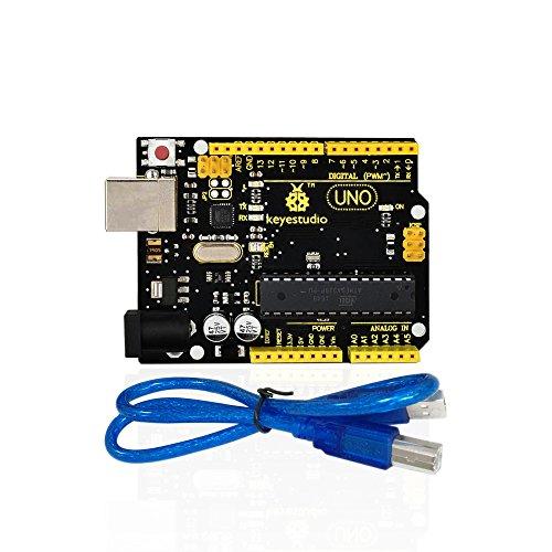 KEYESTUDIO Uno R3 ATmega 328P ATmega16U2 Controller Board Development Board für Arduino + USB-Kabel (Flash-speicher-eeprom)