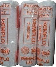 Kemflo Purerite Ps-05 Usa Spun Filter / Pre Filter Cartridge - Better Purification - 5 Micron - Pack Of 3
