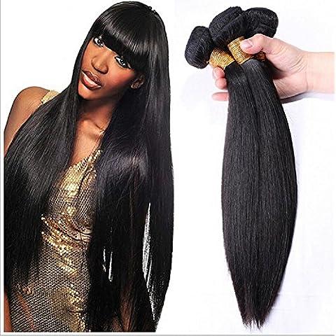 Meydlee AccessoriPosticci 6a peruviana vergine capelli dritti 3pcs/lotti 100% umano capelli estensioni naturali colore 100g/ps totale 300g , 20 22 24