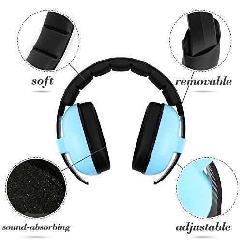 Baby Gehörschutz Ohrenschützer für Babys, Kopfhörer zur Geräuschreduzierung für Babys und Kinder, Baby-Ohrenschützer (Alter 3-24 + Monate), Soft Adjustable, Baby Gehörschutz (Baby Banz Ohrenschützer)