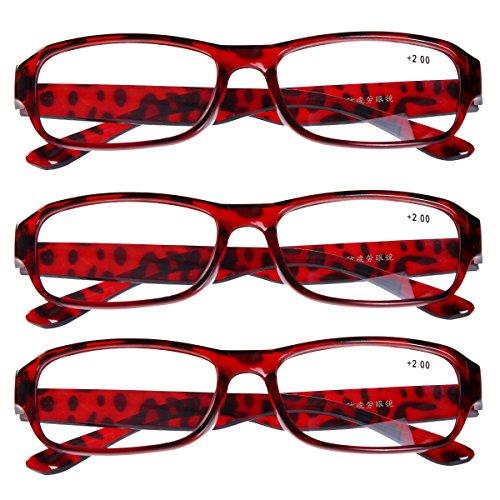 Southern Seas Lot de 3 paires de lunettes de lecture Pour homme et femme Lunettes souples