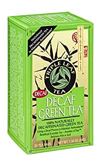TRIPLE LEAF TEA TEA,DECAF GREEN, 20 BAG