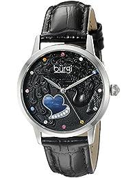 Burgi Reloj con movimiento cuarzo japonés  Negro 36 mm