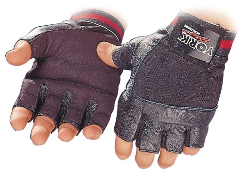 York Fitness Leather – Weight Lifting Gloves
