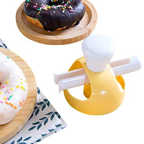 SODIAL 1 Unidades Donut Molde Con Clip DIY Torta Torta Pan Postres Panaderia Cortador Marco Molde Herramientas Para Hornear Donuts Hacedor