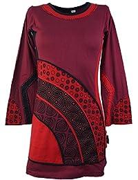 Túnica, Mini vestido de Boho Chic Rojo/tunikas