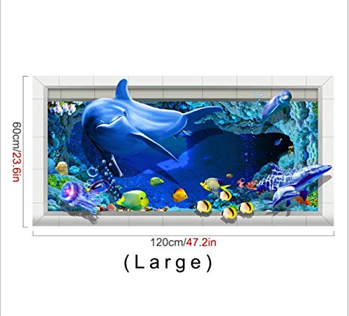 Creative 3D Affixed To The Seabed Bathroom Kitchen Balcony Water Pollution Twill Slip AffixedL -