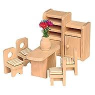 beluga 70124 - Mobili in legno per sala da pranzo, per casa delle bambole, 7 pezzi