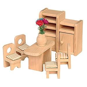 Beluga 70124 - Comedor de Madera para casa de muñecas (7 Piezas)