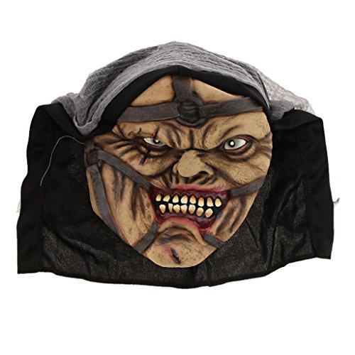 SunniMix Horror Halloween Party Latex Rot Mund Zombie Gesichtsmaske Kostüm - Pimp (Rot Pimp Halloween Kostüm)