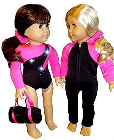 Doll Gymnastics Clothes for American Girl Dolls Outfit Includes Jacket