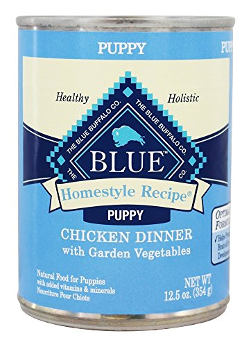 Blue Buffalo - Homestyle Recipe Puppy Canned Dog Food Chicken Dinner with Garden