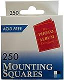 The Photo Album Company Dispenser Box with 250 Photograph Mounting Square - White