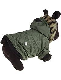 Fossrn Ropa Perro Invierno Mascota Cachorro Abrigo de algodón cálido Chaqueta con Capucha