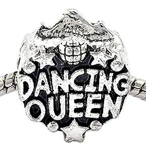 Charm Buddy Dancing Queen-Anhänger aus Silber