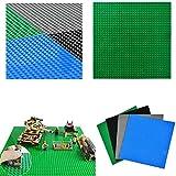 WOWOSS 4Pcs Placas Base básicas para Ladrillos de construcción, 10 '' x 10 '', Placas Base para la construcción de Torres, me