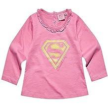 Camiseta de manga larga bebé niña Superman Sweet Baby rosa de ...