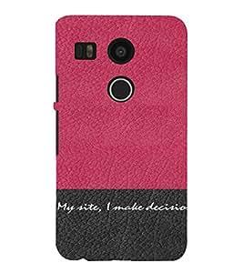 PrintVisa Attitude Quotes Design 3D Hard Polycarbonate Designer Back Case Cover for LG Google Nexus 5X