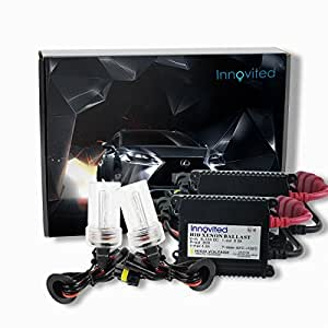 H7 , 6000K : Innovited HID Xenon Conversion Kit All Bulb Sizes and Colors with Premium Slim Ballasts - H11B - 10000K