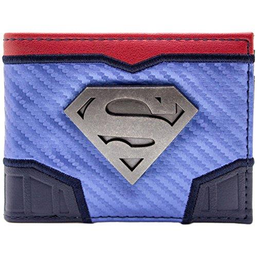 DC Superman Suit Up Argent espérer Badge Bleu Portefeuille