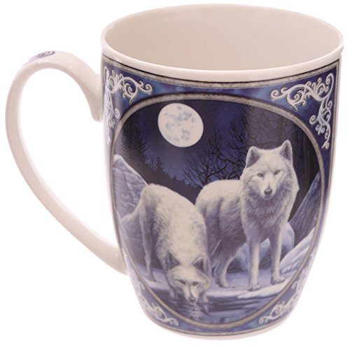 Lisa Parker Winter Krieger Wolf Porzellan Tasse Höhe 10cm Breite 11.5cm Tiefe 8cm (Wolf Winter)