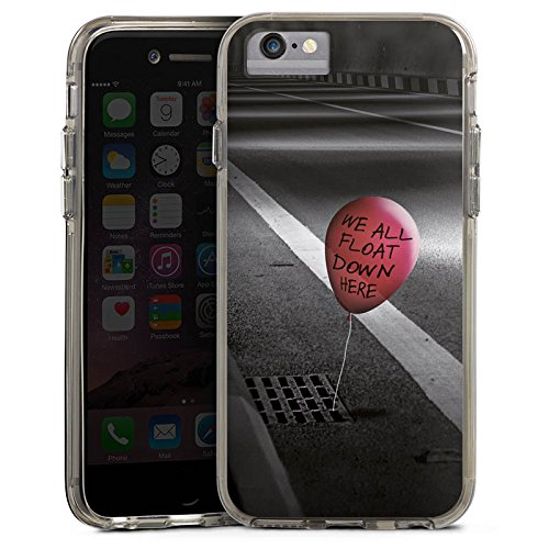 Apple iPhone 6s Bumper Hülle Bumper Case Glitzer Hülle Clown Luftballon Es Bumper Case transparent grau