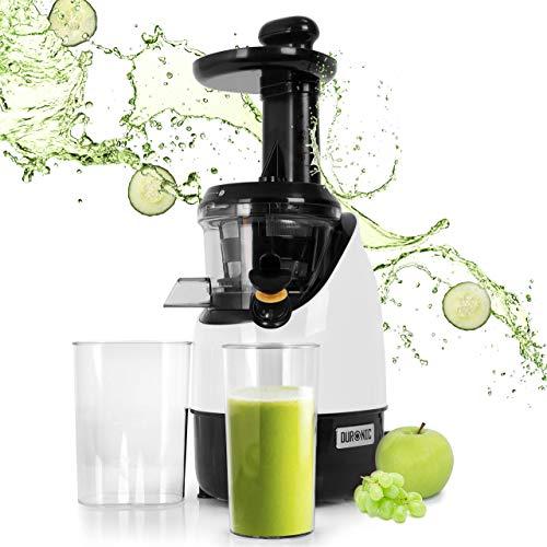 Duronic JE2 (Ricondizionato) Estrattore di succo a freddo di frutta e verdura 220 W - Spremitura lenta 80 giri/minuto e senza lame