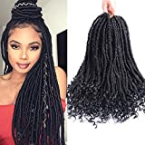 Faux Locs Cheveux tressés de Déesse au crochet, 6 Packs/Lots Torsadés plus Extensions de cheveux synthétiques avec bouts bouclés