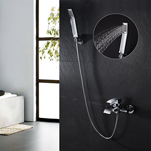 KINSE® Design Zeitgenössische Wasserfall Badewanne Wasserhahn - Wandhalterung mit Handbrause