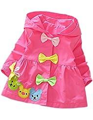 DELEY las Niñas de Bebé de Color Caramelo Arcos de la Zanja de la Chaqueta de Abrigo con Capucha Vestido Outwear