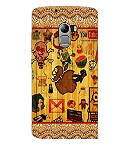 PrintDhaba Graffiti D-5097 Back Case Cover for LENOVO VIBE X3 c78 (Multi-Coloured)