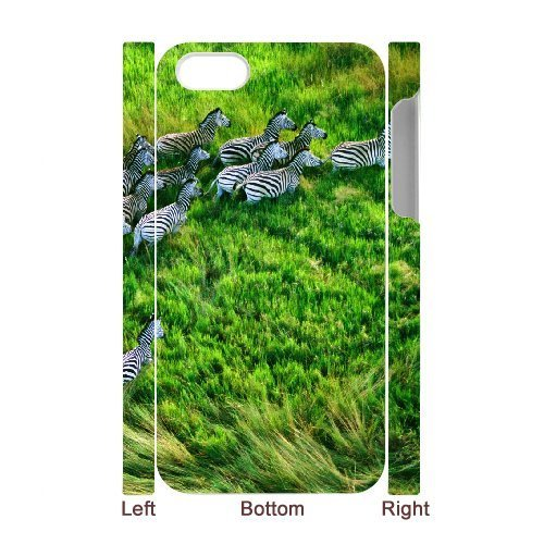 3D Case For iPhone 4/4s, mac os x retina zebras Case For iPhone 4/4s, White - Iphone 4-zebra