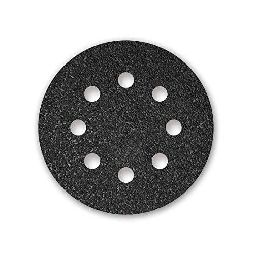MENZER Black 50 Klett-Schleifscheiben, Ø 125 mm, 8-Loch, K80, f. Exzenterschleifer, Siliciumcarbid