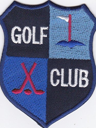 Aufnäher Bügelbild Aufbügler iron on Patch Applikation Golf Club Abzeichen Emblem Sport