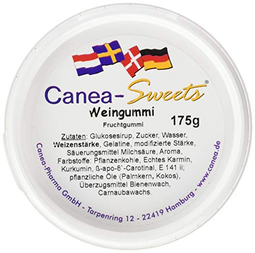 Canea-Sweets Englisches WEINGUMMI Dose, 1er Pack (1 x 175 g)