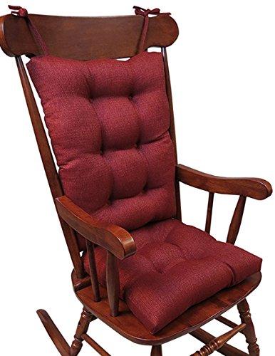The Gripper Non-Slip Omega Jumbo Rocking Chair Cushions, Flame
