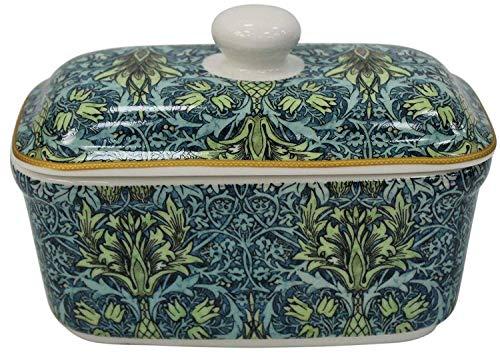 Vorlage Verpackt William Morris Snakeshead Blume Blumen Küche Butter Käse Schale Feines Porzellan Porzellan Geschenk -