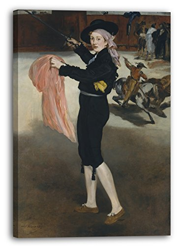 Printed Paintings Impression sur Toile (40x60cm): Édouard Manet - Mademoiselle V....