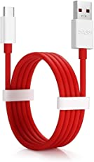 RSC POWER+ Type C USB Data Charging Cable for One Plus 5/5T/3/3T and All Type C Supported Smartphones (Red and White, SIR26-Dash-Charge-Type-C-Cable)
