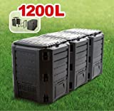 Prosperplast komposter, schwarz, 82 x 60 x 30 cm, IKSM1200C-S411