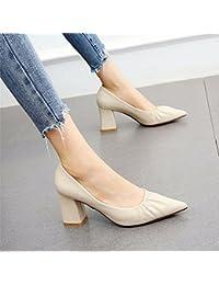 YMFIE Tacchi a spillo stiletto in vernice temperamento stile europeo punta superficiale bocca singola scarpe da sposa, 38 EU, A