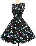 damenkleider festlich petticoat kleid ärmellos empire taille partykleider rockabilly kleid Größe XL CL6086-17 Test