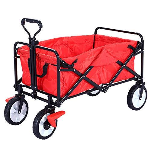 Gartenwagen Wagen Leinwand Stoff Auto Campingwagen Faltwagen - Tragbare Rollkapazität Auto GaoFan Multifunktionswagen, faltender Einkaufswagen, sportliche tragende Faltung